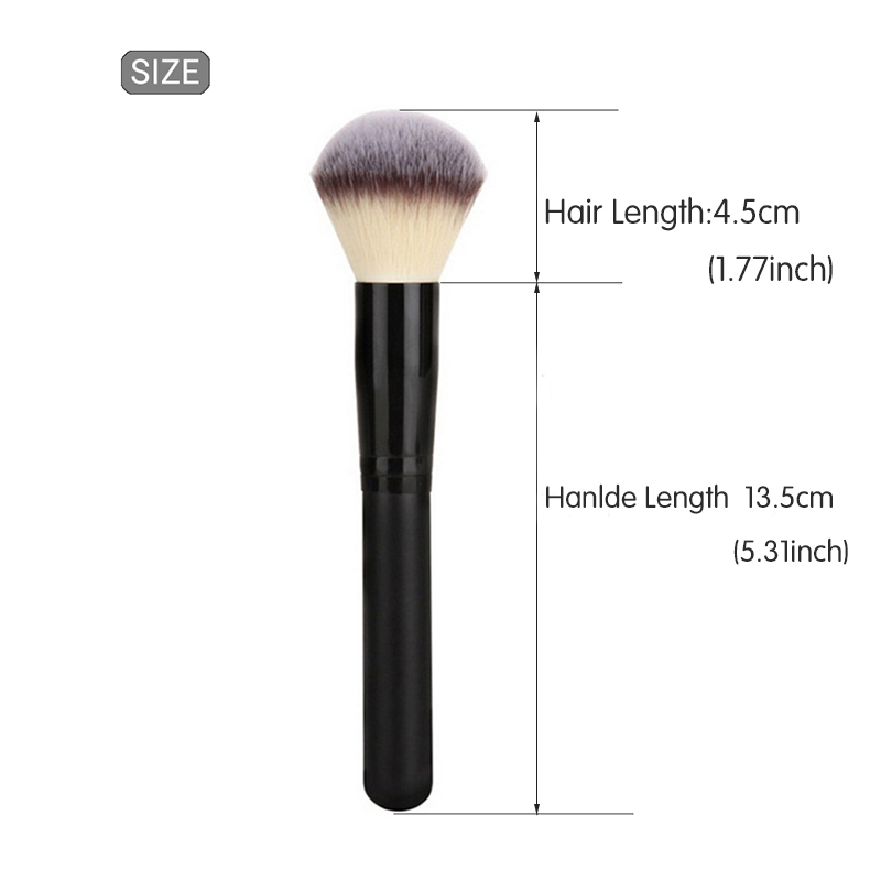 Brainbow 1pc Maquillaje Pincel Polvo Blush Brush 3 colores Nylon - Maquillaje - foto 3