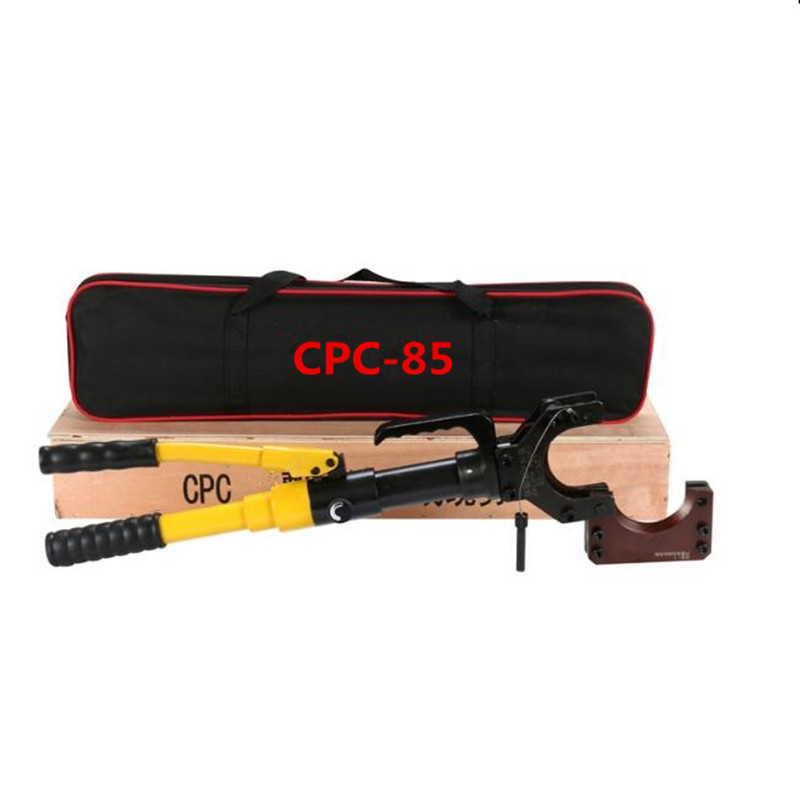 CPC-85 Hydraulic Cable Scissor Hydraulic Cable Shear Cable Manual Hydraulic Cutter 85mm Hydraulic cutting tool hydraulic knockout tool hydraulic hole macking tool hydraulic punch tool syk 15 with the die range from 63mm to 114mm