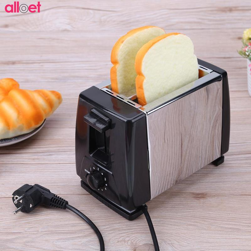 Hot Sale Stainless Steel 304 Bread Toaster 220V Automatic Toasters Toast Cooking Tool Breakfast Machine EU plug fast shipping