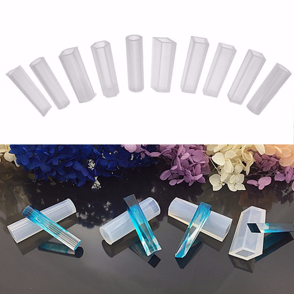 10pcs Silicone Molds Resin Necklace Jewelry Pendant Casting DIY Making Mould Craft Tool Handmake Decoration Tools Shellhard