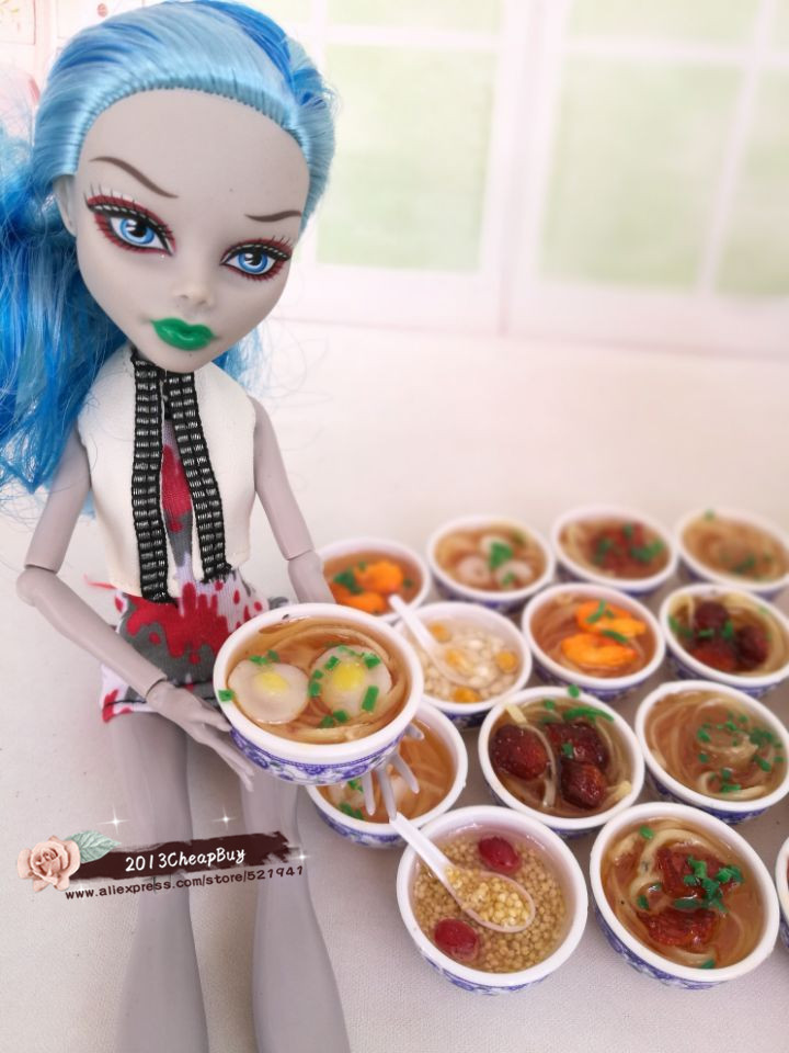 4pcs Simulation of food dollhouse for BJD Doll for blythe New Fashion Doll accessories food for
