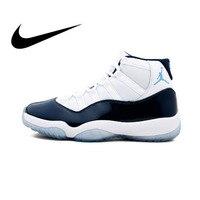 Оригинальные аутентичные Nike Air Jordan11 Ретро выиграть, как 96 Для мужчин баскетбольная обувь Спорт на открытом воздухе AJ11 кроссовки Спортивное