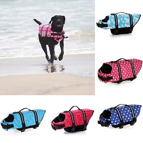 Dog Pet Reflective Saver Life Jacket Vest Aquatic Safety Aid Swim Floating Coat