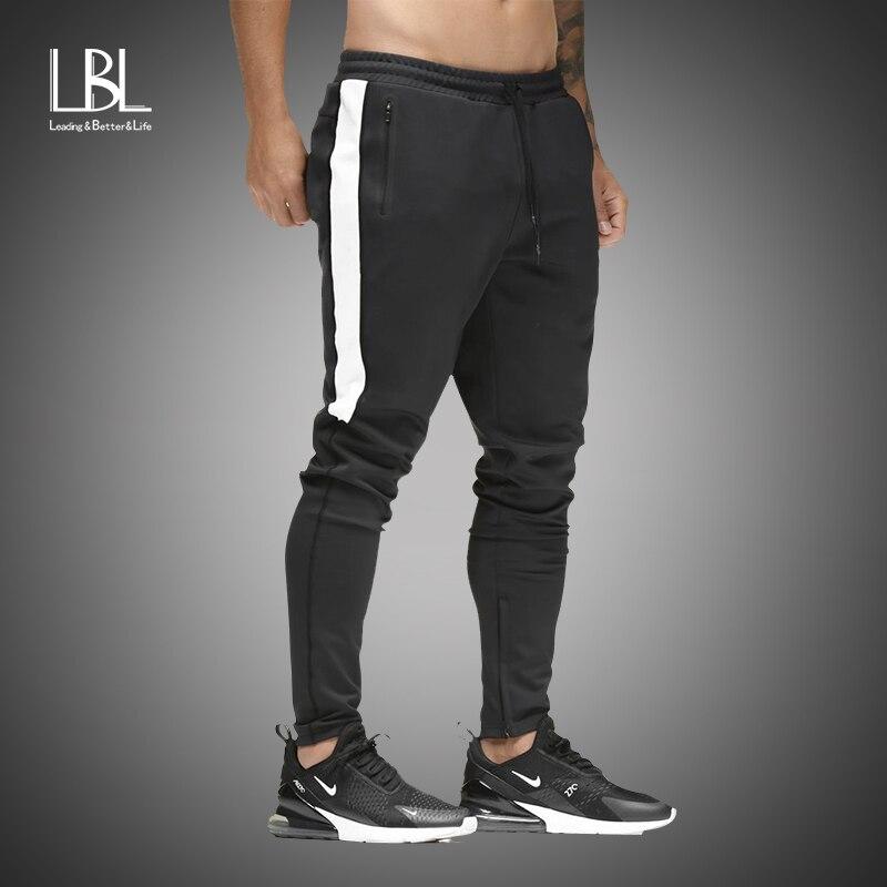 Pants Men Hip Hop Sweatpants Striped Pleated Stretch Harem Pant Male 2019 Casual Slim Gyms Pants Fitness Joggers Pantalon Homme