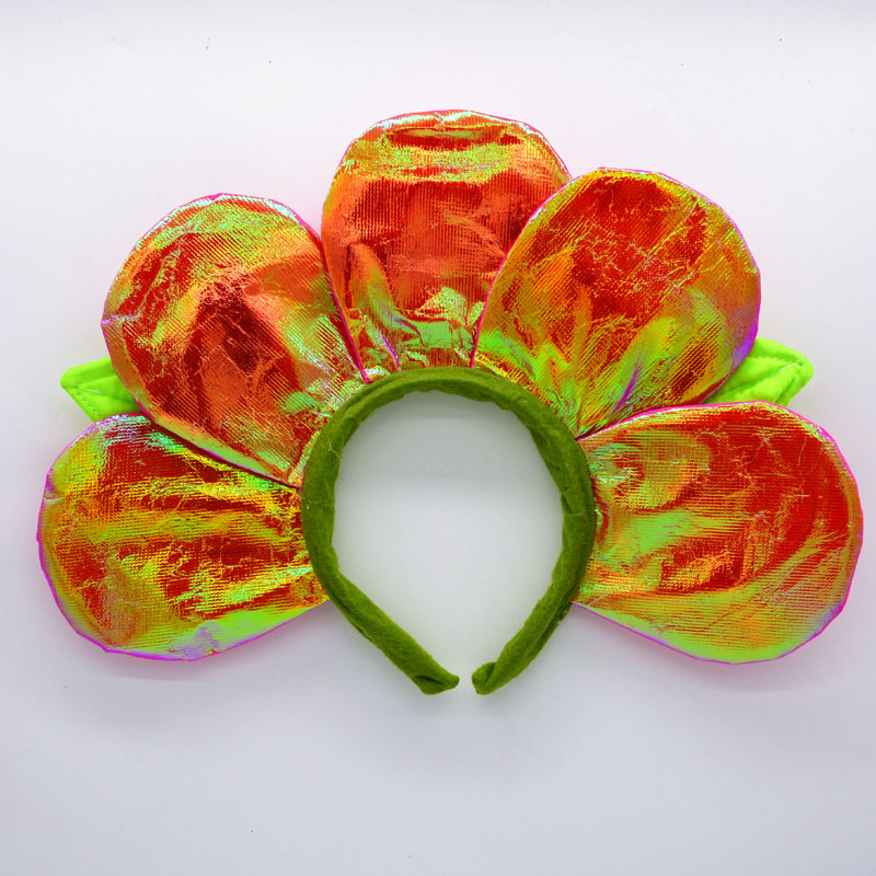 Children Man Woman Sun Head Wear Petal Flower Headband Children Birthday Party Favor Decorations Cosplay