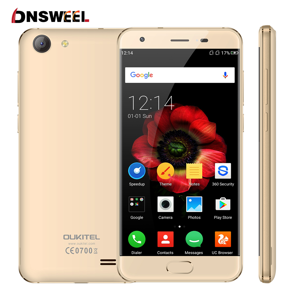 Original oukitel mtk6737 k4000 plus smartphone quad core 1.3 ghz android 6.0 5.0