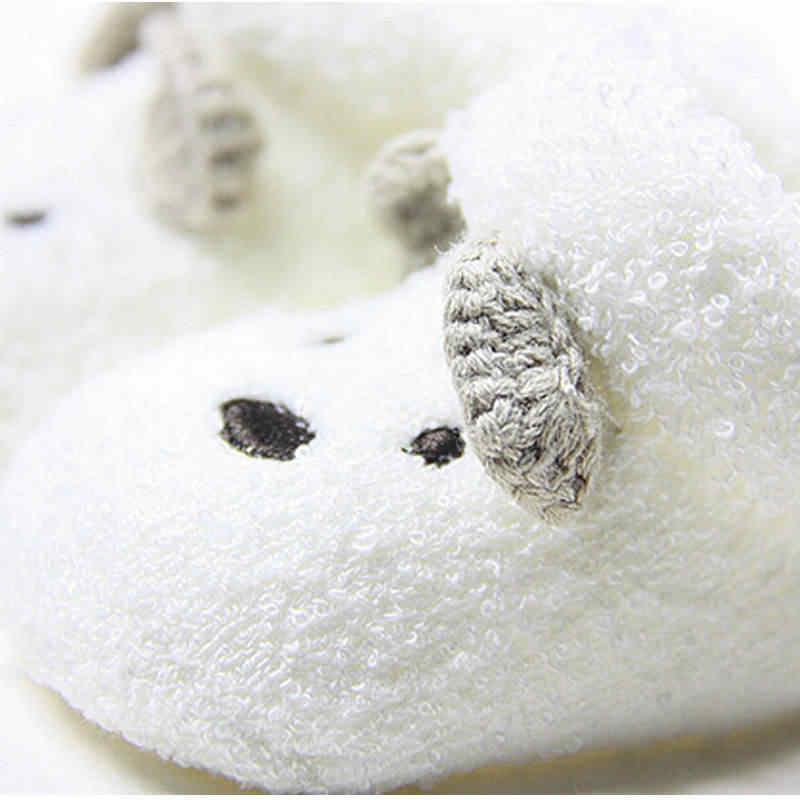 0-12เดือนทารกแรกเกิดถุงเท้าเด็กU Nisexเด็กสาวน่ารักหมีเปลที่อบอุ่นรองเท้าเด็กวัยหัดเดินbebeรองเท้าเด็กรองเท้า