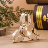 Fidget Toy Metal Yellow Copper EDC Hand Spinner For Autism And ADHD Anxiety Stress Relief Focus
