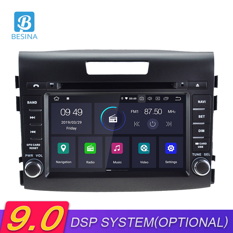Besina Android 9.0 Car DVD Player For <font><b>HONDA</b></font> <font><b>CRV</b></font> 2012 2013 <font><b>2014</b></font> <font><b>Multimedia</b></font> GPS Navigation Stereo 2 Din Car Radio WIFI Autoaudio image
