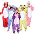 2016 Winter Children Halloween Gifts Funny Animal Pyjamas Hot Cartoon Characters Costumes Warm Flannel Onesies Animal Pajamas