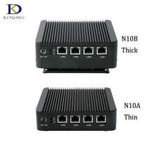 Cheapest 4*Intel WG82583 Gigabit Lan Fanless HTPC Mini PC J1900 Quad Core Multi-function Router Network Security Nettop