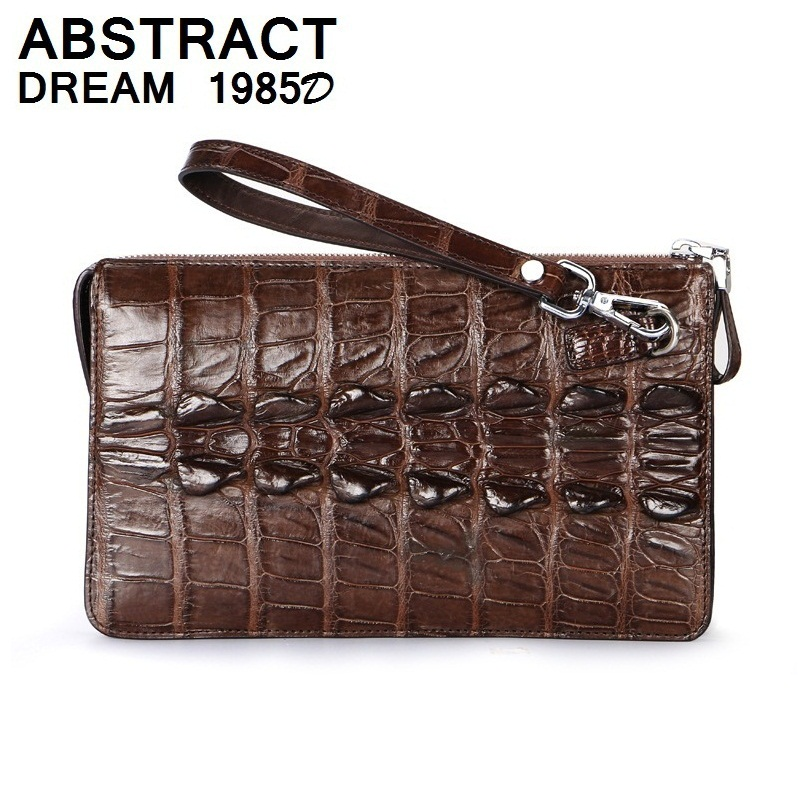 Дизайнерские мужские кошелек 100% натуральная кожа крокодиловой кожи качество сцепления мужские роскошные сумки модные из натуральной кожи