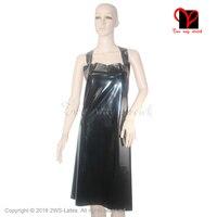 Sexy black Latex apron Rubber apron plus size WQ 002