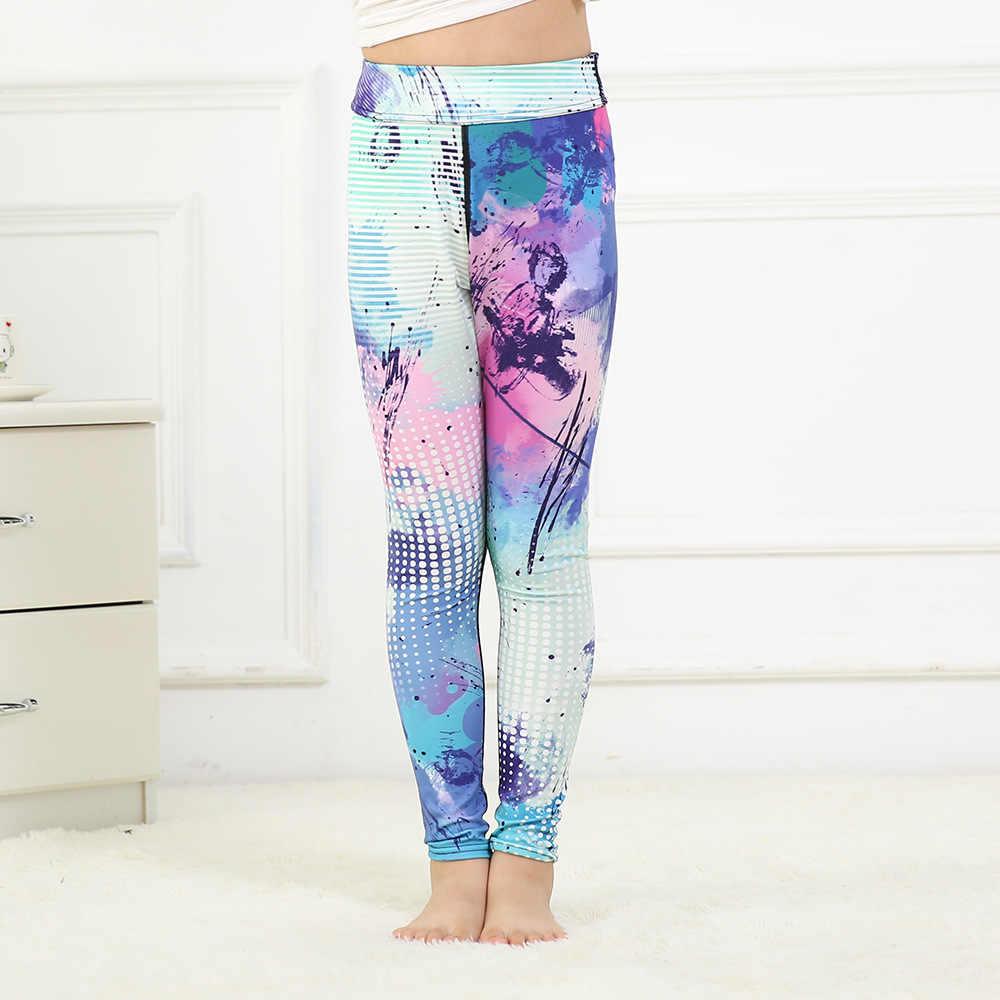 d919ffa5a1033 Новые леггинсы брюки штаны для девочек на осень и зиму Цифровой 3D цвет