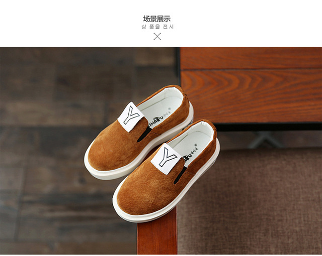 2016 Spring children shoes Boys Girls Single Shoes Genuine Leather Kids Loafers Girls boys Fashion scrubs sneakers breathable