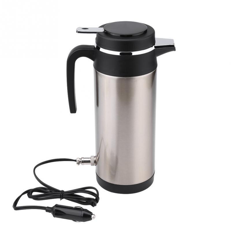 1200 ML 12 V acier inoxydable électrique dans la voiture KettleTravel Thermoses chauffage eau café thé bouteille