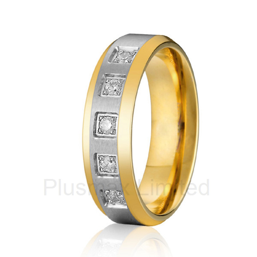 anel cheap pure titanium jewlery online cheap wholesale custom female wedding band jewelry ring anel de casamento cheap pure titanium satin surface gold color colorful stone cheap pure titanium promise wedding band rings