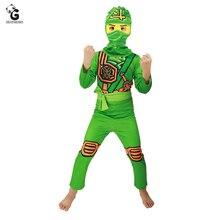 Boys Ninjago Costume Kids Cosplay Jumpsuits Ninja Costumes Halloween for Fancy Party Dress Girls Suit