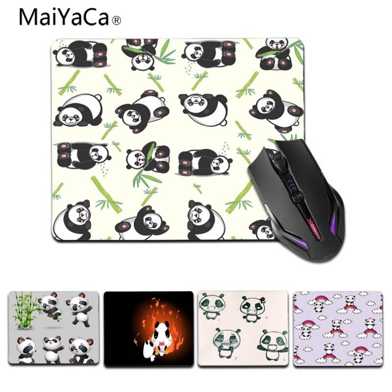 MaiYaCa симпатичные панды индивидуальные Мышь колодки ноутбук Мышь коврик Размеры для 25X29 см 180X220 мм игровой Мышь колодки