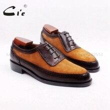 Cie/мужские коричневые туфли-оксфорды ручной работы из натуральной телячьей кожи с круглым носком; № OX712