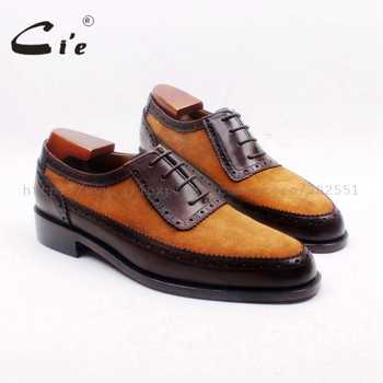 cie Custom Handmade Round Toe Brown Suede Matching Genuine Calf LeatherDark Brown Men's Oxford Shoe  No.OX712 adhesive craft - DISCOUNT ITEM  0% OFF All Category