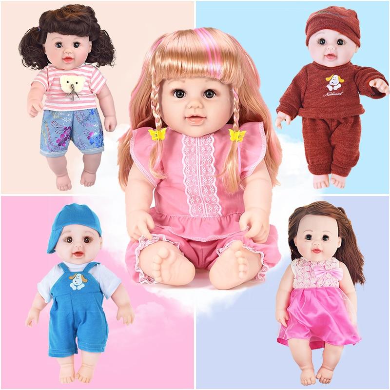 48cm real păpuși nou-născuți realiste Jucării pentru fete Rochie - Păpuși și jucării umplute