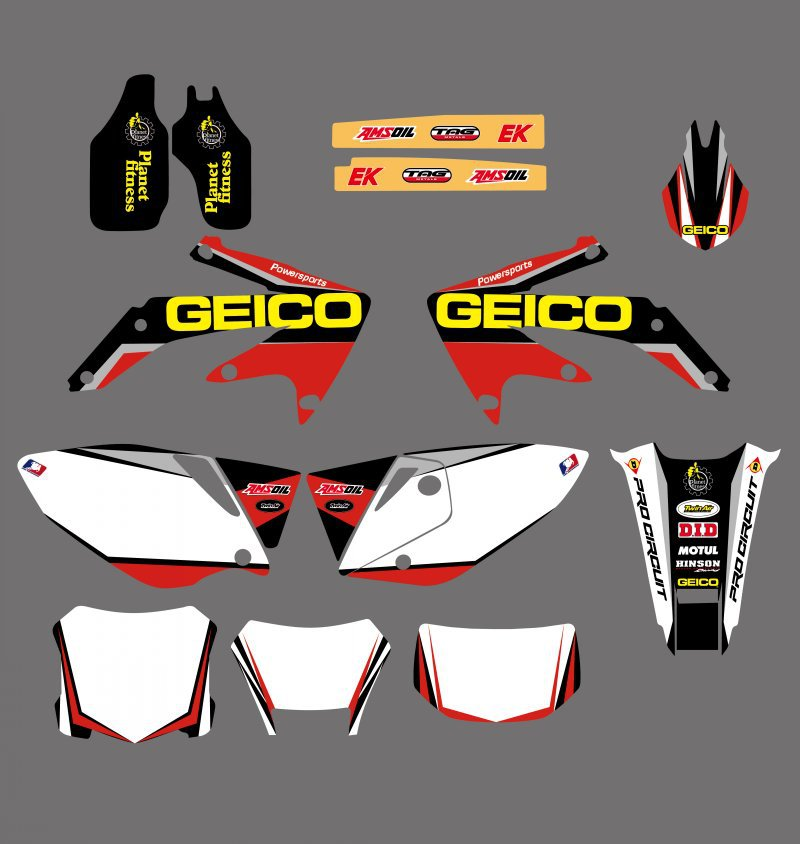 GRAPHICS & BACKGROUNDS DECALS STICKERS Kits for Honda CRF450X 4 STROKES 2004 2005 2006 2007 08 09 10 11 2012 CRF 450 X CRF450 for honda crf 250r 450r 2004 2006 crf 250x 450x 2004 2015 red motorcycle dirt bike off road cnc pivot brake clutch lever
