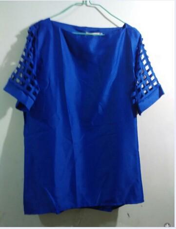 HTB19Ck6HpXXXXcgXXXXq6xXFXXXZ - New Summer shirt Short sleeve Chiffon Blouse Tops Clothing 5XL