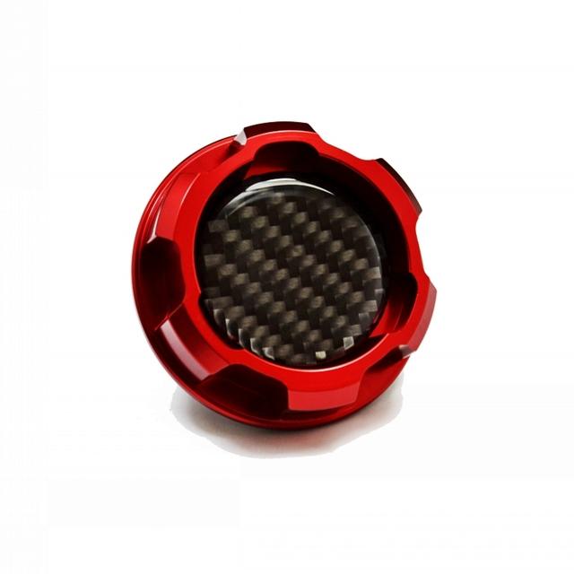 New red alumínio tampa de óleo do motor fit mazda mazdaspeed rx7 rx8 323 familia bp 1.8l protege fsdet miata mx5 mx-5 carro styling