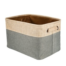 Jetdio Cotton U0026 Jute Portable Foldable Organizer Boxes, Big Canvas Storage  Basket Bag For Baby U0026 Kids Toys, Clothes And Books