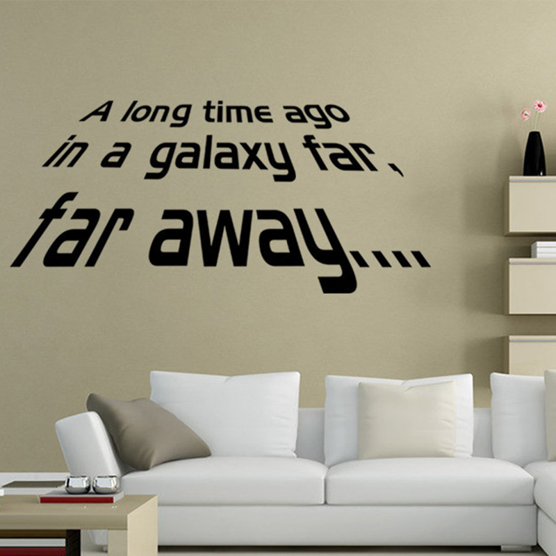 Aliexpress Buy Star Wars Wall Decals Far Away Quotes
