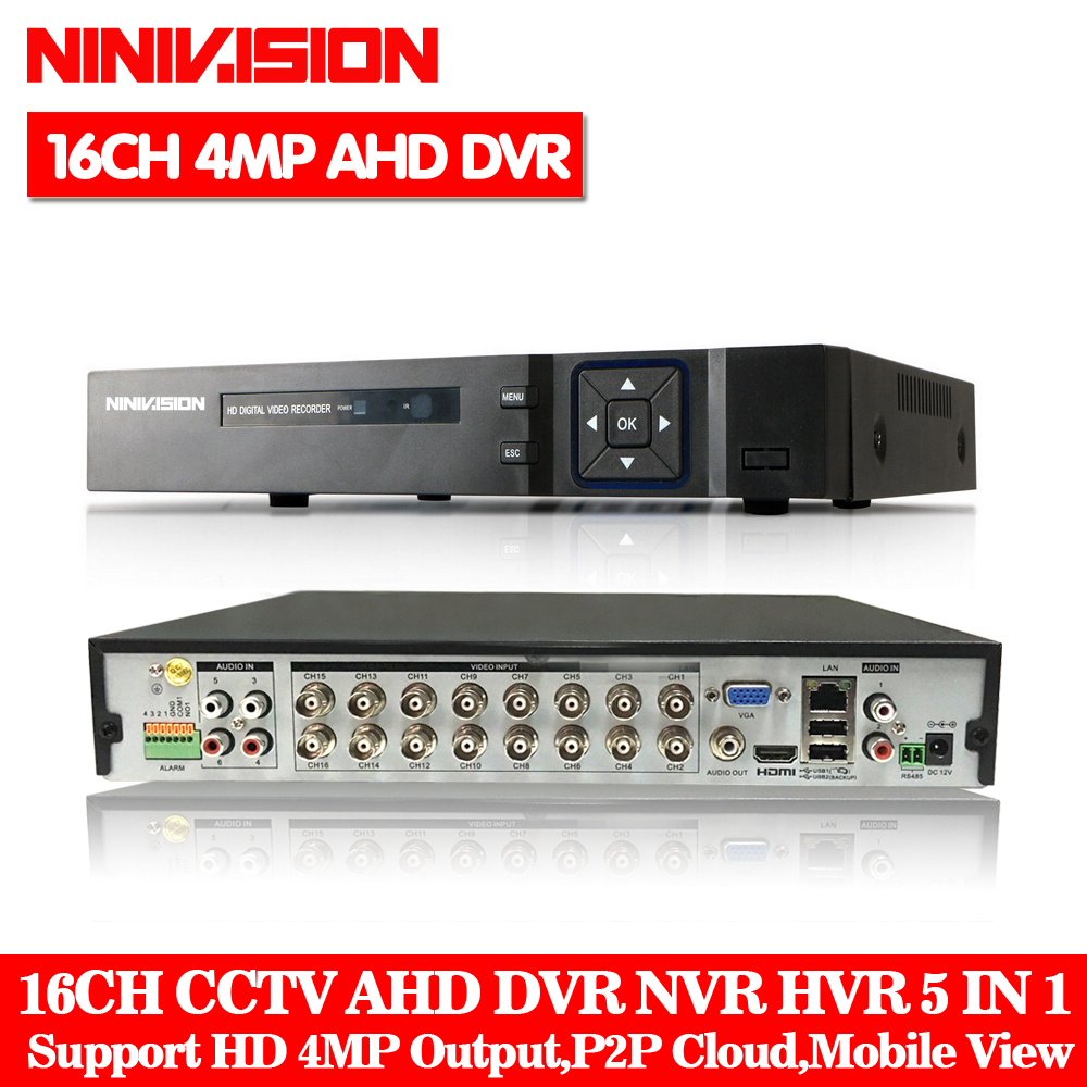 HD 4MP CCTV Camera Hi3521 XMeye 16CH 16 Channel 5 in 1 WIFI Coaxial Hybrid XVI NVR CVI TVI AHD DVR Surveillance Video Recorder keeper 16 channel 1080p ahd full hd 5 in 1 hybrid surveillance dvr video recorder support tvi cvi ahd cvbs ip camera
