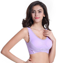 YG584 Front Button support up seamless no-rim professional shockproof yoga sports bra