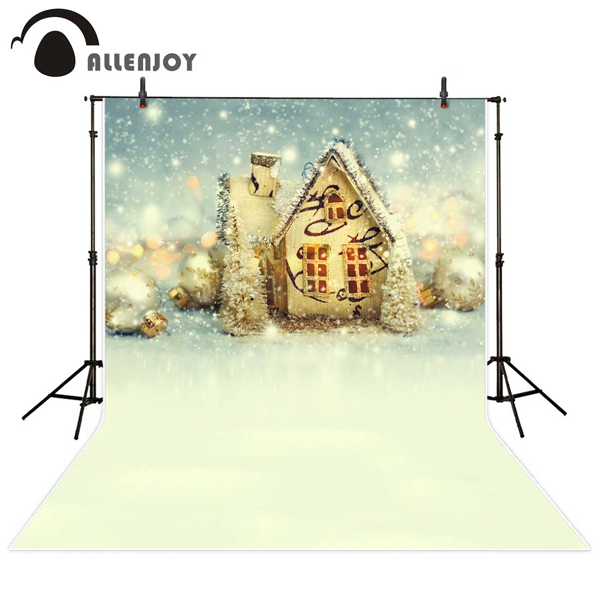 Allenjoy christmas photography backdrops Christmas background snow house fairy tale kids background Photo background photo vinyl photography background fairy tale