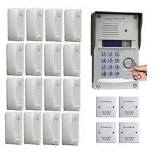 ZHUDELE Высокое качество Роскошный домофон для дома Система аудио телефон двери для 16 квартиры металлическая открытая станция