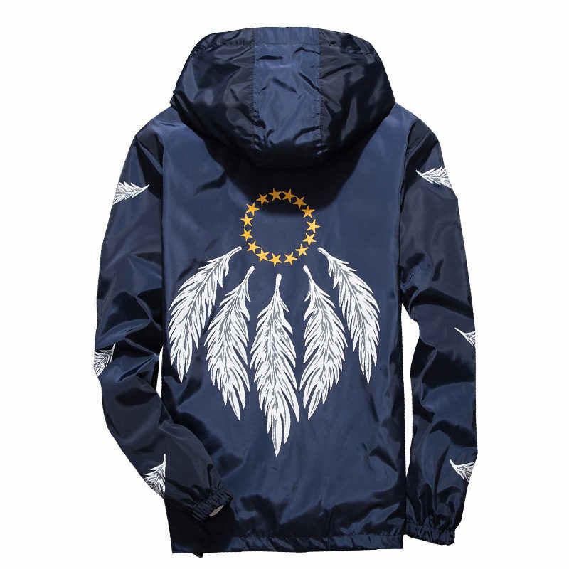Nieuwe 2019 Herfst Jas Mannen Dunne Jassen Mannen Casual Lover Jacket Hip Hop Windbreaker Jas Met Capuchon Rits Parka Mannen m-7XL