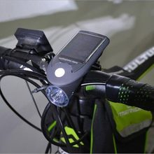 2018 New Solar Bike Bicycle Light LED Front Head Light USB 2.0 Rechargeable Headlight Lamp For Night Cycling Sport(China)