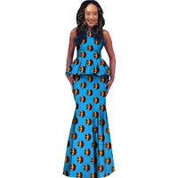 Africa Style Women Skirt Set Dashiki Plus Size African Clothing Crop Top Skirt Set for Party