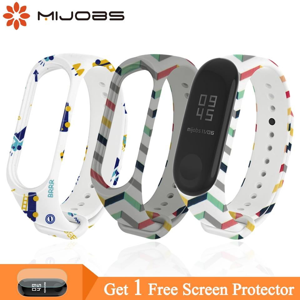 Mijobs Mi Band 4 Strap for Xiaomi Mi Band 4 Replacement Silicone Wrist Strap for Xiaomi Mi Band 3 Smart Watch Bracelets Miband 3