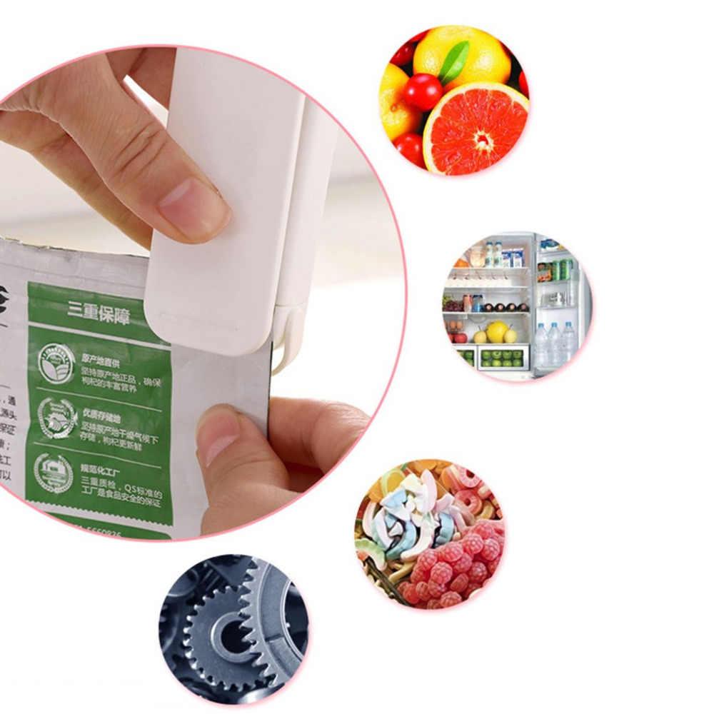 Mini Portátil Selagem Máquina de Embalagem do Saco de Plástico Mais Perto Sealer Selagem de Aquecimento Elétrico Portátil Ferramenta para Lanches Saco