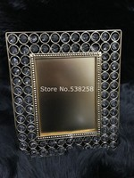 High quality luxury European gold creative crystal frame desktop frame