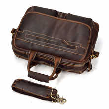 MAHEU Double Zipper Messenger Bag Men's Shoulder bag Genuine Leather Laptop Briefcase Man Leather Handbags Male Crossbody Bags