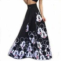 2018 Summer Skirt Women Long Skirts Elastic High Waist Pleated Maxi Skirts Beach Boho Sexy Vintage