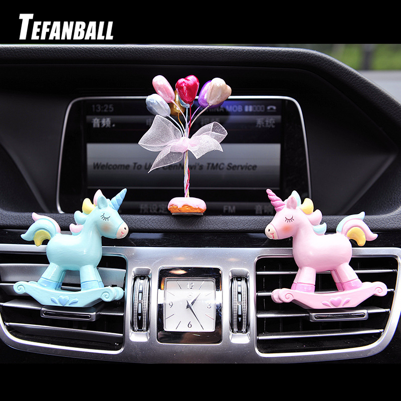 Car Fragrance Resin Unicorn Air Conditioning Vent Perfume Clip Creative Cute Freshener Solid Balm Decoration Ornaments