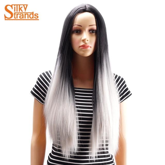 Cheveux noir meche gris