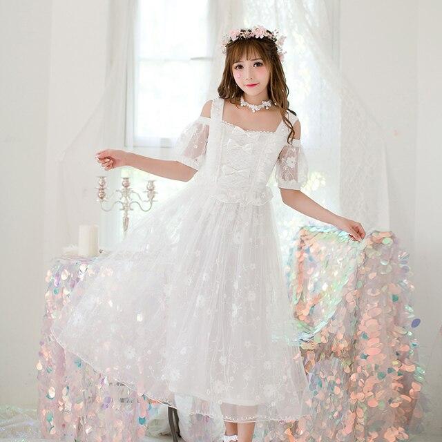 adad45e8d Princesa dulce Lolita Candy lluvia vestido japonés dulce vestido de gasa