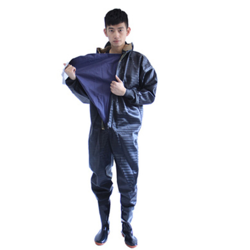 1mm Thickness whole body waders clothes with gloves caps boots outdoor fishing trousers water overalls jumpsuit waterpoof pants