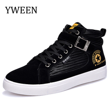 YWEEN Men Casual Shoes Spring Autumn New Lace-up Style Fashion Trend Suede Flat Breathable Rubber Youth Shoe Man