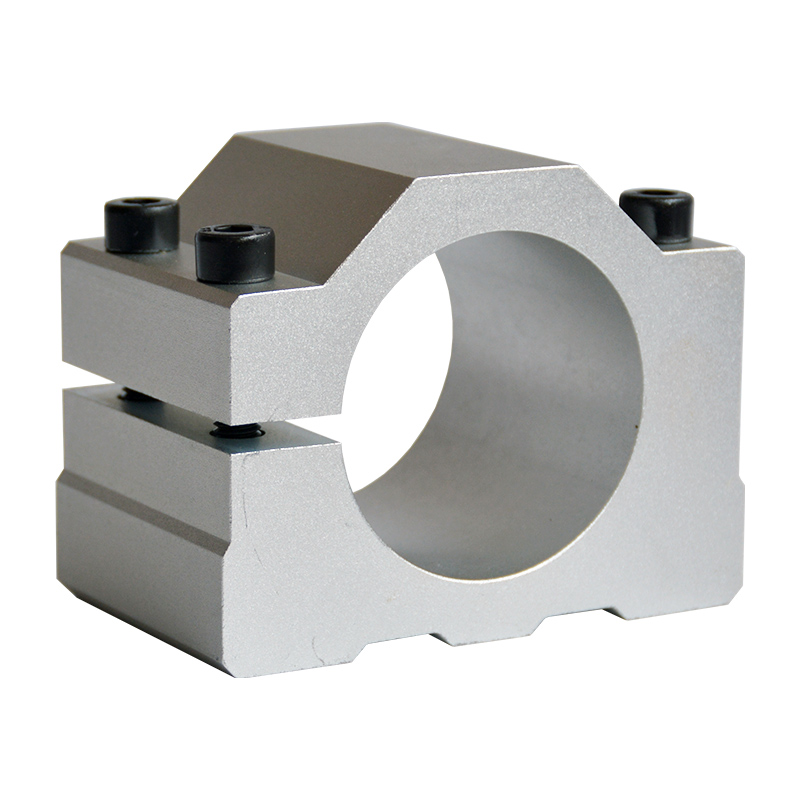 CNC Spindle clamp 52mm 57mm 65mm aluminum motor bracket cnc carving machine clamp motor holder 80mm spindle motor bracket seat cnc carving machine clamp motor holder cast aluminum sandblasting surface for 80mm spindle motor