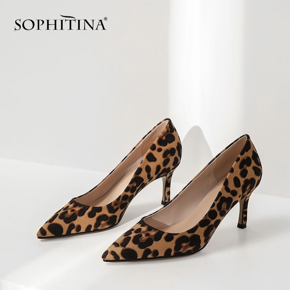 SOPHITINA New Fashion Pointed Toe Ladies Pumps New Office Slip On Shoes Basic High Thin Heel Outside Hot Sale Design Pumps MO183-in Women's Pumps from Shoes    2